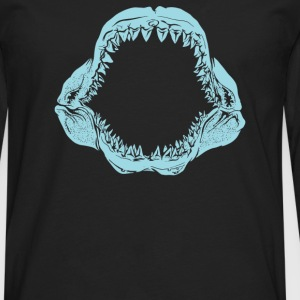 Mouth Of The Megalodon - Men's Premium Long Sleeve T-Shirt