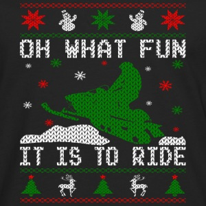 Oh What Fun Snowmobile Ugly Sweater style Hoodies - Men's Premium Long Sleeve T-Shirt