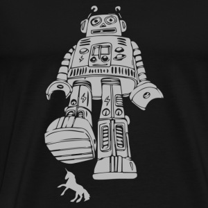 Robot Smashing - Men's Premium T-Shirt