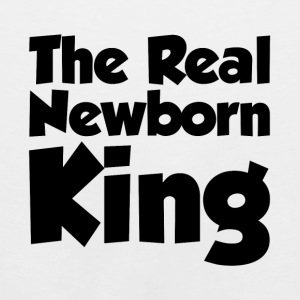 THE REAL NEWBORN KING MATERNITY BABY INFANT T-Shirts - Men's Premium Tank