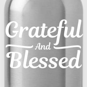 Grateful and Blessed - Thankful Thanksgiving T-Shirts - Water Bottle