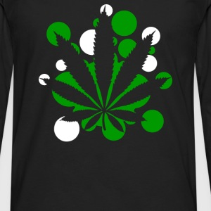 Weed Leaf Cannabis - Men's Premium Long Sleeve T-Shirt