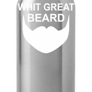 With Great Beard Comes Great Responsibility - Water Bottle