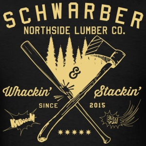 Schwarber Lumber Co_cream - Men's T-Shirt
