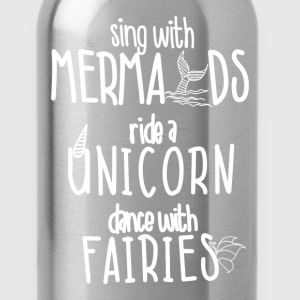 Sing with Mermaids Ride a T-Shirts - Water Bottle