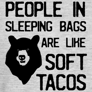 People in sleeping bags are like soft tacos T-Shirts - Men's Premium Long Sleeve T-Shirt