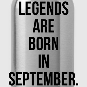 Legends are born in September T-Shirts - Water Bottle