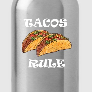 Tacos Rule Graphic Mexican T-shirt T-Shirts - Water Bottle