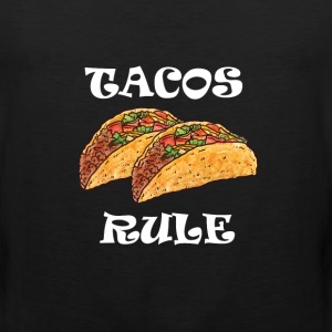 Tacos Rule Graphic Mexican T-shirt T-Shirts - Men's Premium Tank