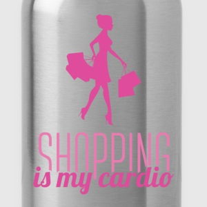 Shopping is my cardio - Water Bottle