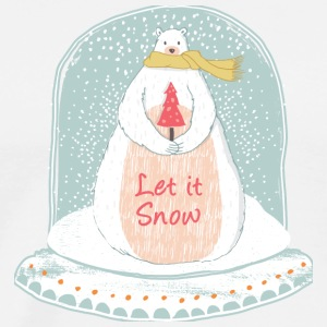 Let it snow - Christmas snow globe - Men's Premium T-Shirt