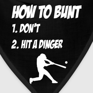 How to Bunt Shirt - baseball - Bandana