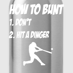 How to Bunt Shirt - baseball - Water Bottle