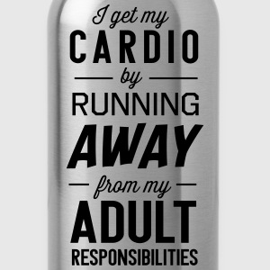 I get my cardio by running away from adult Tanks - Water Bottle