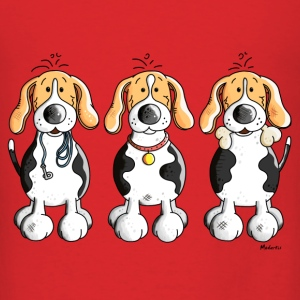 Three Funny Beagle Cartoon Bags & backpacks - Men's T-Shirt