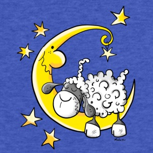 Sheep in the Moon Sweatshirts - Fitted Cotton/Poly T-Shirt by Next Level