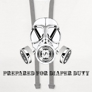 Prepared for diaper duty - gas mask - Contrast Hoodie