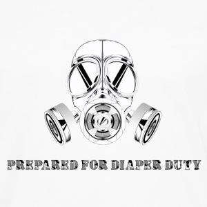 Prepared for diaper duty - gas mask - Men's Premium Long Sleeve T-Shirt