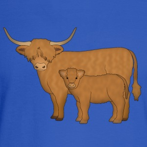 Highland Cattle kalf Sweatshirts - Men's Long Sleeve T-Shirt