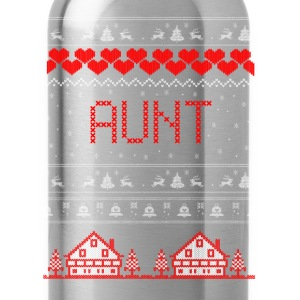 Aunt Ugly Christmas Sweater T-Shirts - Water Bottle
