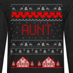 Aunt Ugly Christmas Sweater T-Shirts - Men's Premium Long Sleeve T-Shirt