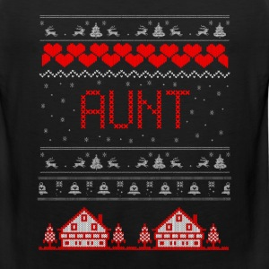 Aunt Ugly Christmas Sweater T-Shirts - Men's Premium Tank