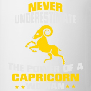 NEVER UNDERESTIMATE THE POWER OF A CAPRICORN WOMAN T-Shirts - Coffee/Tea Mug