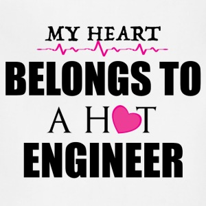 MY HEART BELONGS TO A HOT ENGINEER T-Shirts - Adjustable Apron