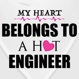 MY HEART BELONGS TO A HOT ENGINEER T-Shirts - Bandana