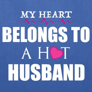 MY HEART BELONGS TO A HOT HUSBAND T-Shirts - Tote Bag