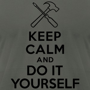 Keep calm and Do It Yourself Hoodies - Men's T-Shirt by American Apparel