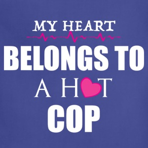 MY HEART BELONGS TO A HOT COP  T-Shirts - Adjustable Apron