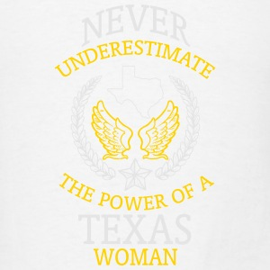 NEVER UNDERESTIMATE THE POWER OF A TEXAS WOMAN! Tanks - Men's T-Shirt