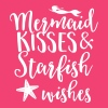 Mermaid kisses and starfish wishes T-Shirts - Women's V-Neck T-Shirt