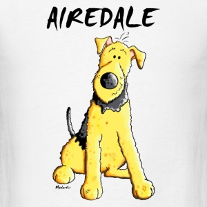 Funny Airedale Terrier Mugs & Drinkware - Men's T-Shirt