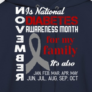 Diabetes-November is national diabetes month T-Shirts - Men's Hoodie