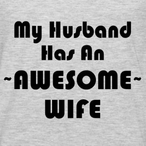 AWESOME WIFE Tanks - Men's Premium Long Sleeve T-Shirt
