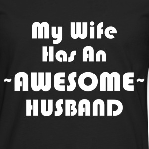 AWESOME HUSBAND T-Shirts - Men's Premium Long Sleeve T-Shirt