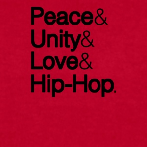 PEACE UNITY LOVE & HIP-HOP	 - Men's T-Shirt by American Apparel