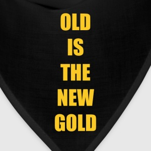 Old is the New Gold Funny Vintage T-shirt T-Shirts - Bandana