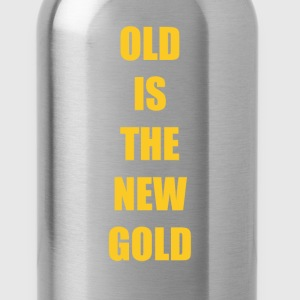 Old is the New Gold Funny Vintage T-shirt T-Shirts - Water Bottle