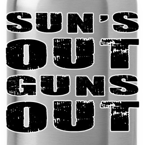 SUN'S OUT GUNS OUT - Water Bottle