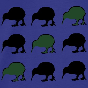 Kiwi Birds New Zealand Aprons - Men's Premium T-Shirt