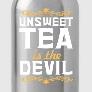 Unsweet Tea is the Devil Funny Graphic T-shirt T-Shirts - Water Bottle