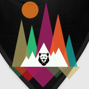 Hipster Mountains & Bear Bags & backpacks - Bandana