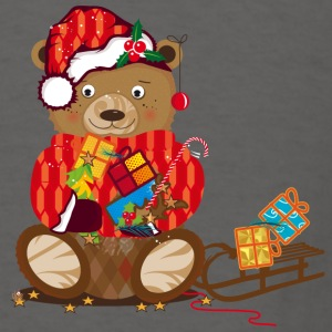 little bear with Christmas hat Aprons - Men's T-Shirt