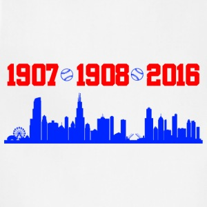 cubs chicago skyline T-Shirts - Adjustable Apron