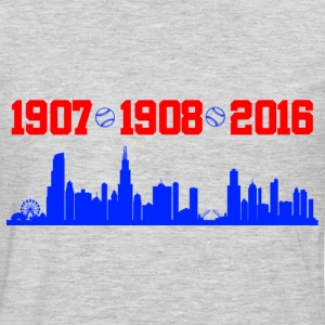 cubs chicago skyline T-Shirts - Men's Premium Long Sleeve T-Shirt