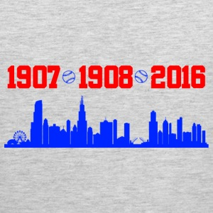 cubs chicago skyline T-Shirts - Men's Premium Tank