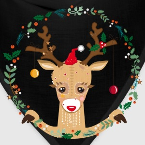 A reindeer in the Christmas time Baby & Toddler Shirts - Bandana
